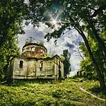 Ruiny cerkwi w Kniaziach