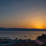 Wschód słońca nad Albanią