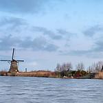 Styczniowy poranek w Kinderdijk.